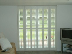 Full height shutters with centre bar